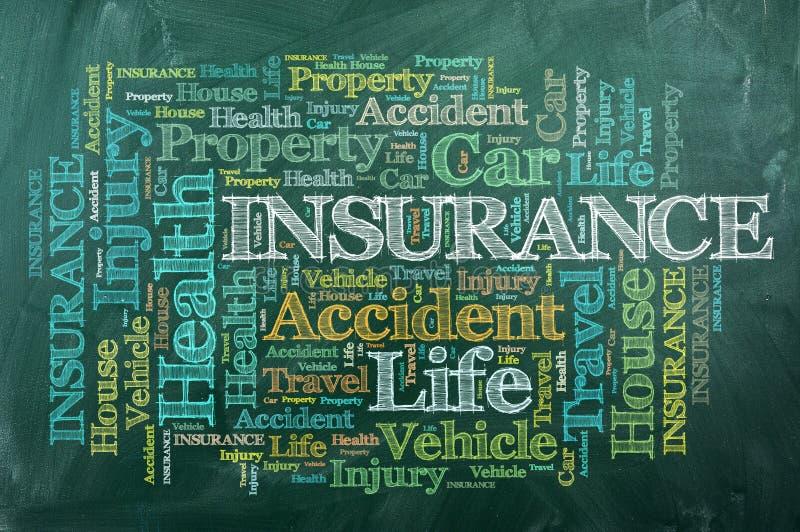 Insurance chalckboard stock images