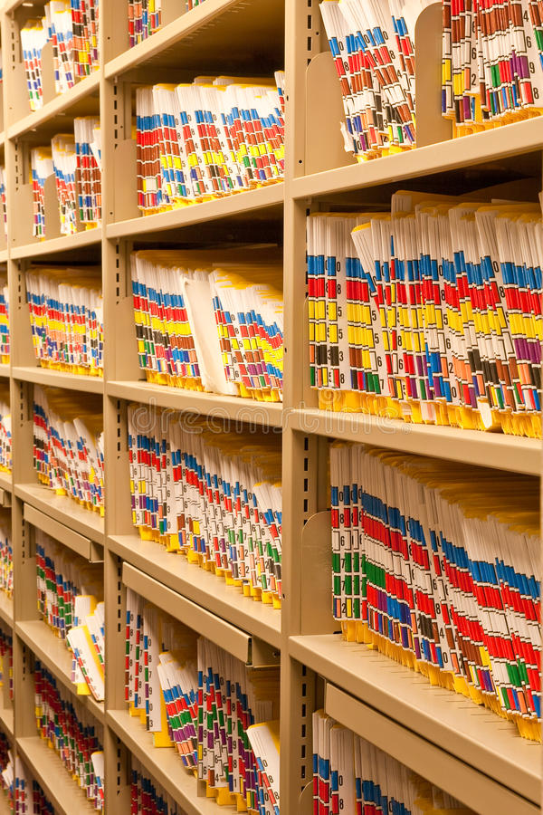 Insurance Claim Folders royalty free stock image
