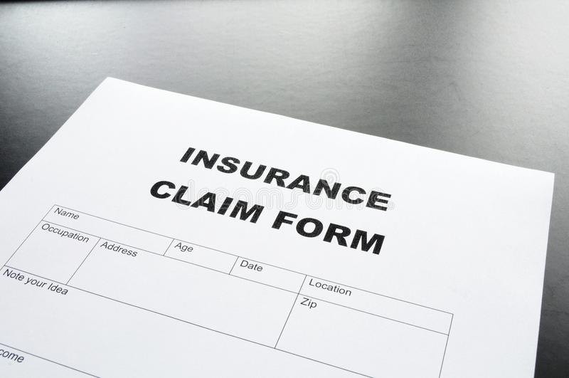 Download Insurance claim form stock image. Image of danger, financial - 14863101