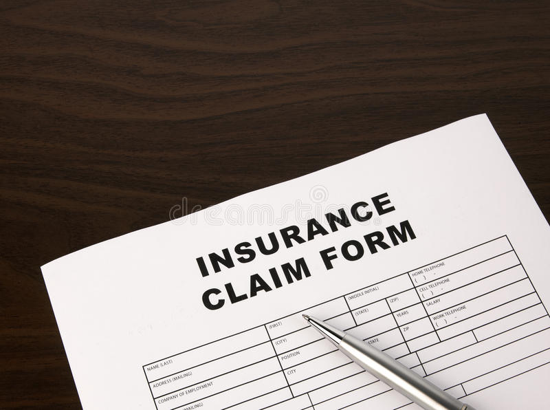 Download Insurance Claim Form stock photo. Image of agreement - 15770050