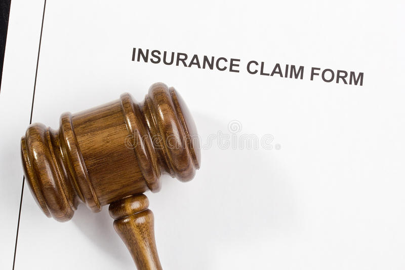 Insurance Claim Form. Directly above photograph of an insurance claim form royalty free stock images