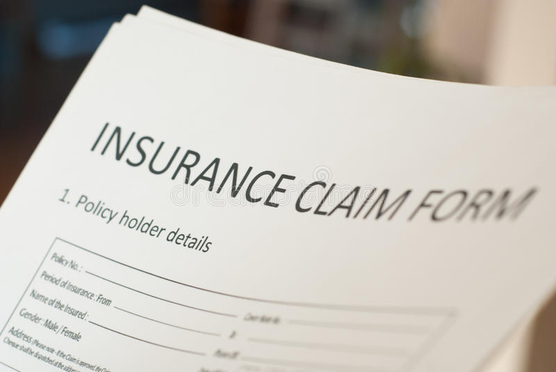 Insurance claim form. To fill royalty free stock photography