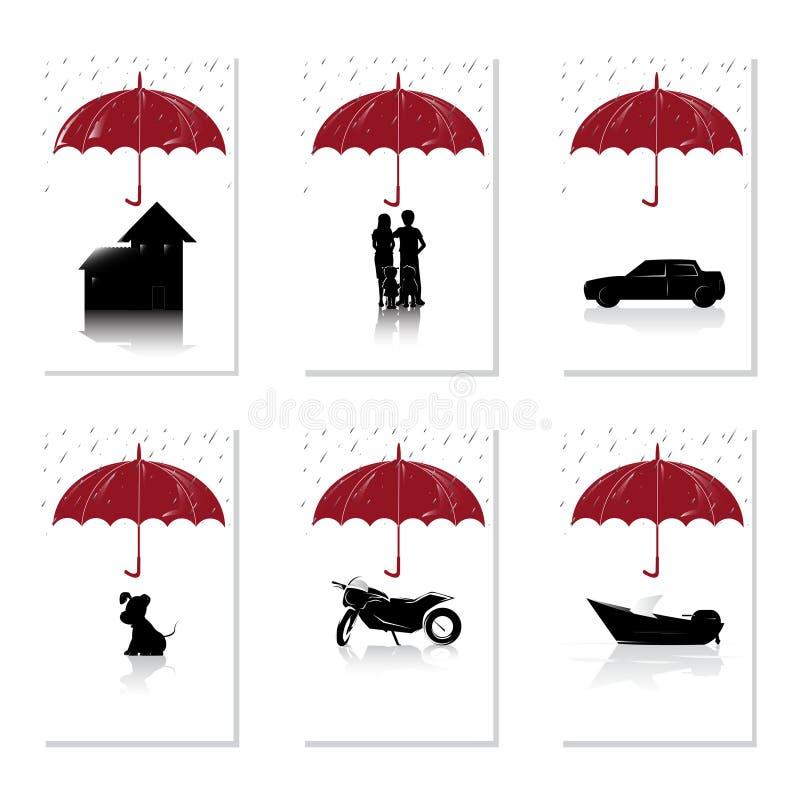 Insurance concept royalty free illustration