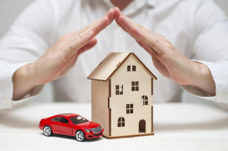 Car And Home Insurance >> Concept Of Family Home And Car Insurance Stock Photo