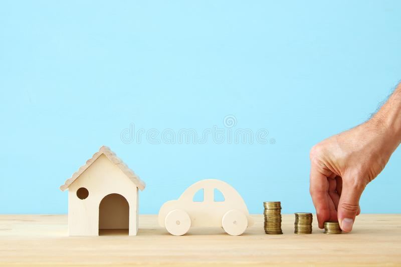 Insurance concept. family life, mortgage, financial and health issues. Insurance concept. family life, mortgage, financial and health issues royalty free stock image