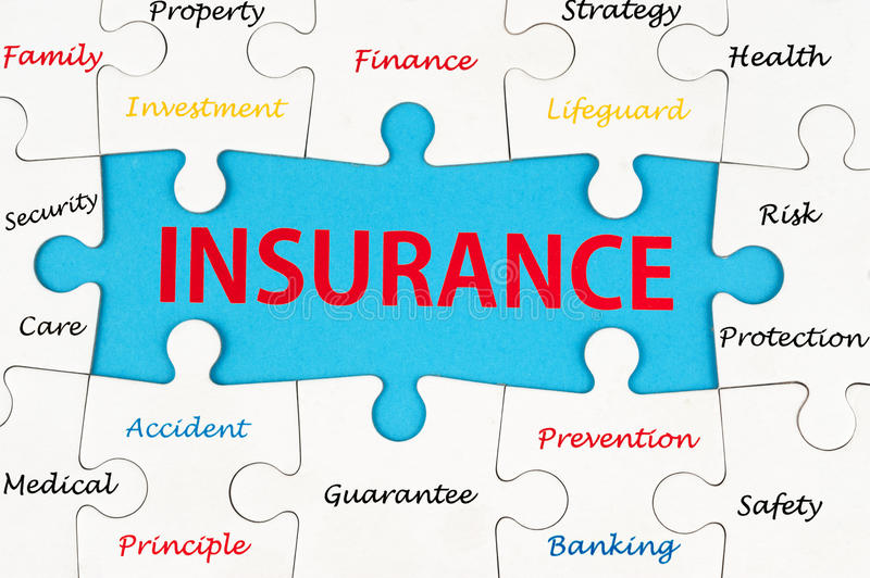 Insurance concept word cloud royalty free stock photography