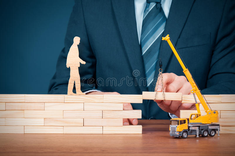Insurance, customer care and support stock photography