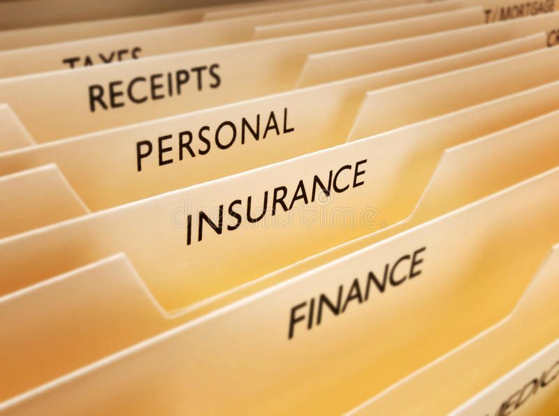 Insurance File. Files with insurance the main focus