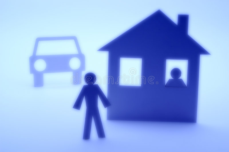 Download Insurance House Cutout Silhouette Stock Illustration - Illustration of protection, form: 3694757