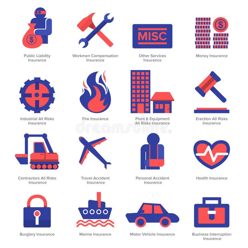 Insurance icon stock illustration