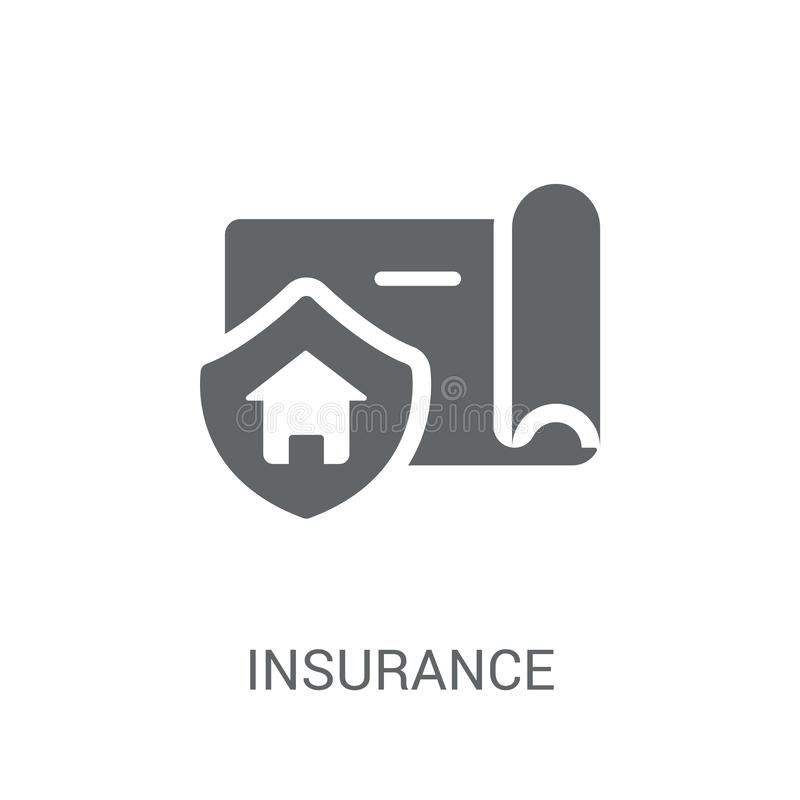 Insurance icon. Trendy Insurance logo concept on white background from Real Estate collection royalty free illustration