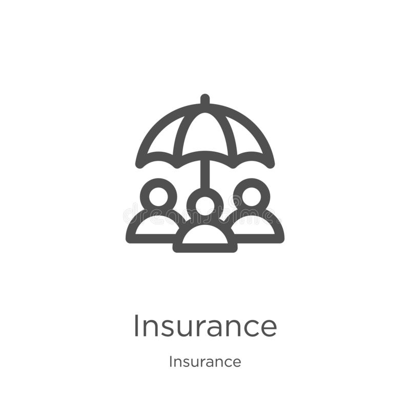 insurance icon vector from insurance collection. Thin line insurance outline icon vector illustration. Outline, thin line vector illustration