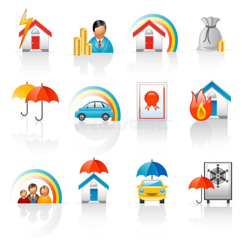 Free Insurance Icons Royalty Free Stock Image - 14554516