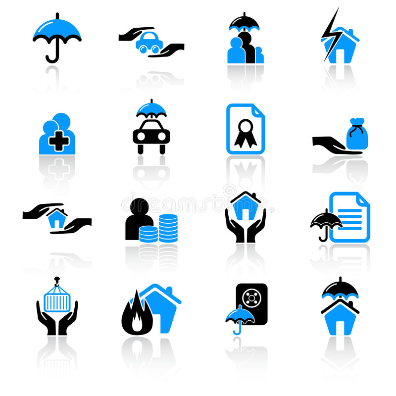 Insurance icons vector illustration