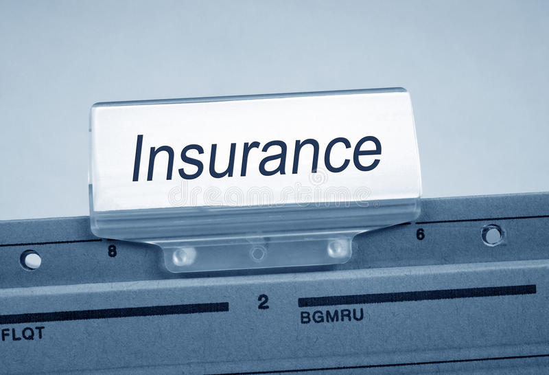 Insurance label royalty free stock photography