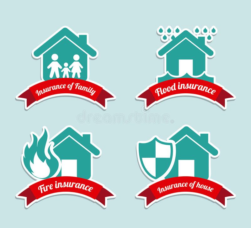 Insurance Labels Stock Photography