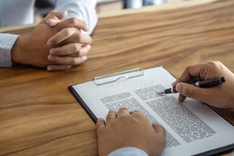 Insurance or loan real estate, Agent broker and client signing contract agreement approved to buy property had passed the. Examination stock images