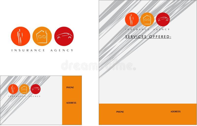 Insurance modern logo, Business Card, Flyer. Insurance logo person home house car vector illustration