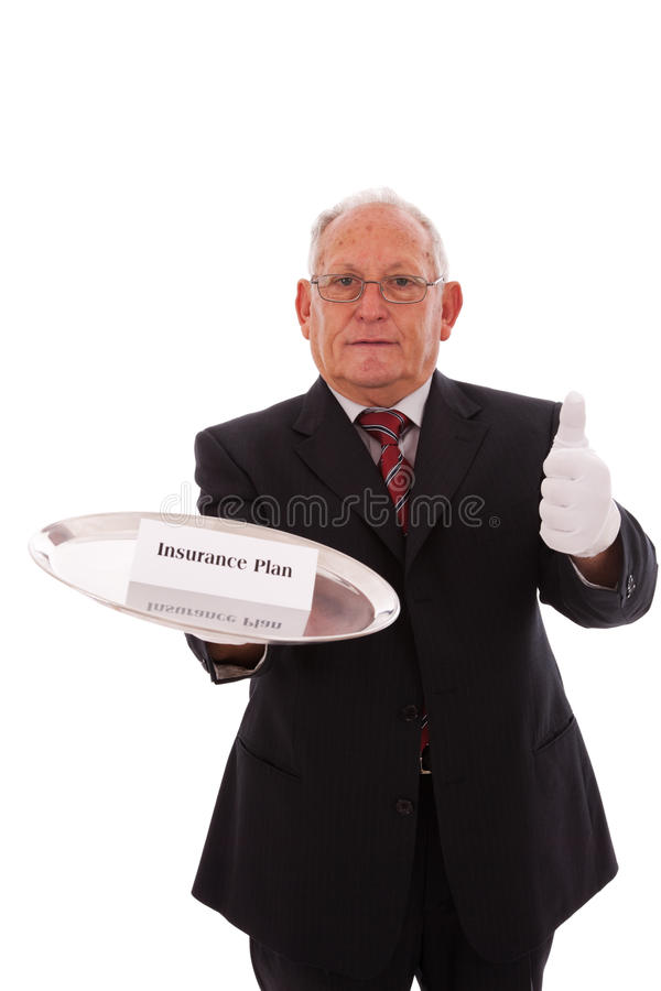 Download Insurance Plan stock photo. Image of handsome, butler - 12575360