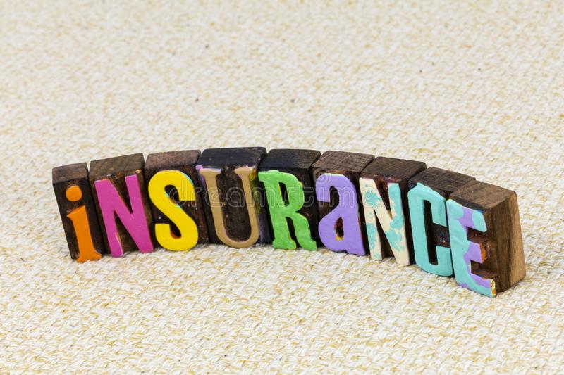 Insurance plan business family health life medical protection royalty free stock photos