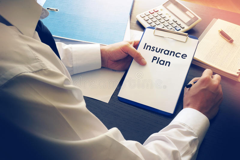 Insurance plan. stock images