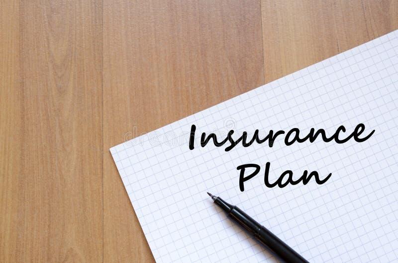 Insurance plan write on notebook royalty free stock image