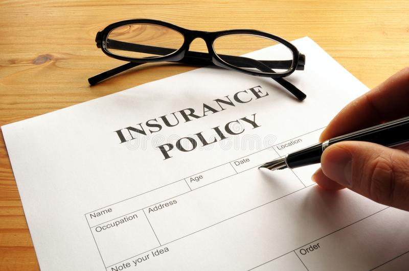 Download Insurance Policy Royalty Free Stock Photography - Image: 14117817
