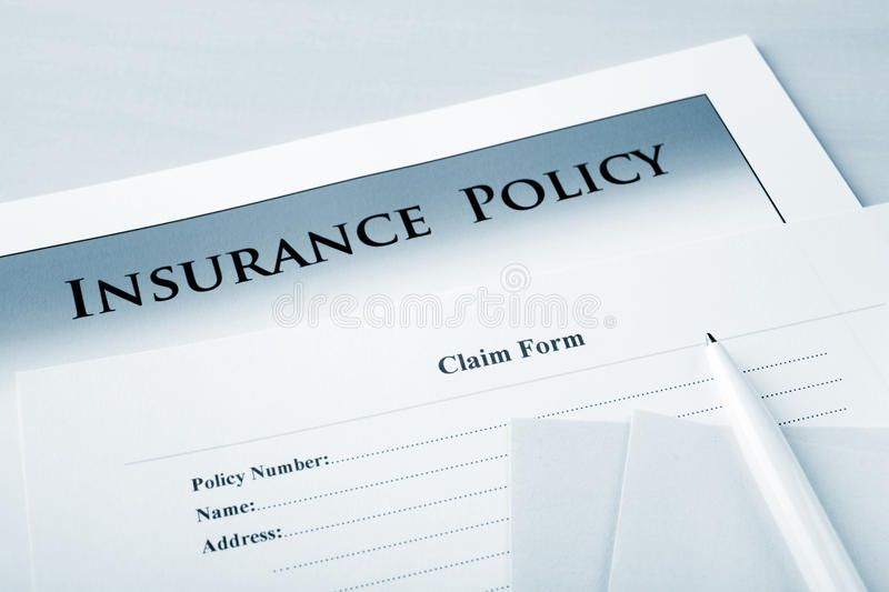 Download Insurance Policy And Claim Form Stock Photos - Image: 25319713