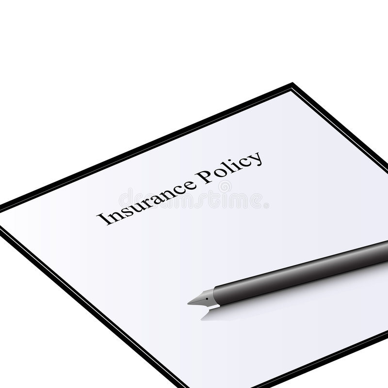 Download Insurance Policy Document stock illustration. Image of element - 9060175