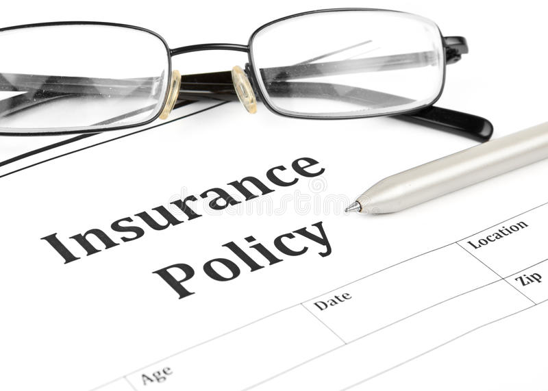 Insurance Policy Form On Desk In Office Royalty Free Stock Photo