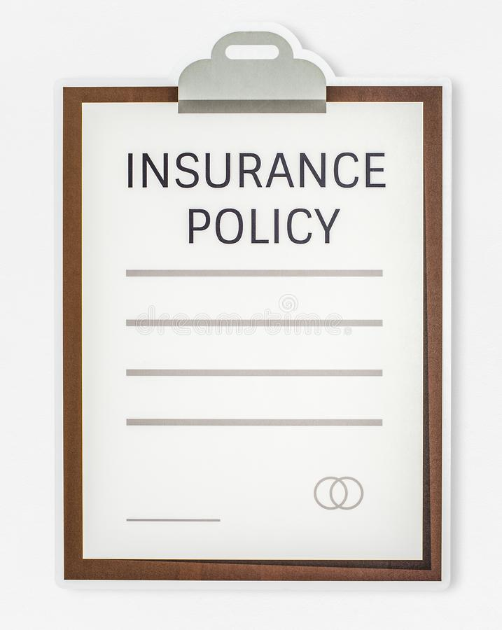 Insurance policy form icon isolated royalty free stock images
