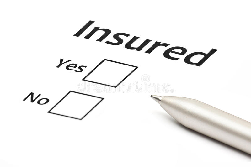 Insurance or risk business concept. Isolated on white royalty free stock images