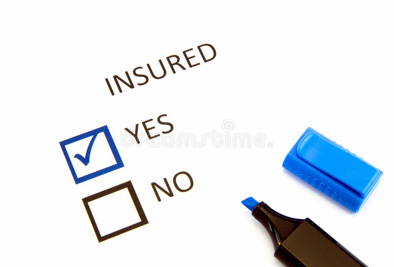 Insurance or risk. Business concept royalty free stock photos