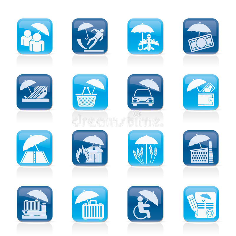 Download Insurance, Risk And Business Icons Royalty Free Stock Image - Image: 31836306