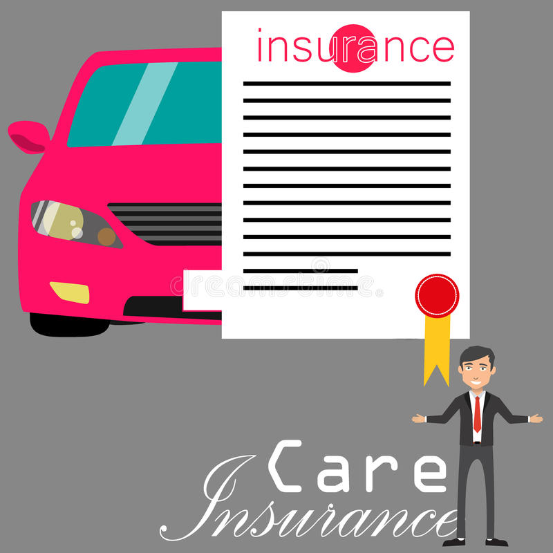 Insurance and Salesman stock illustration