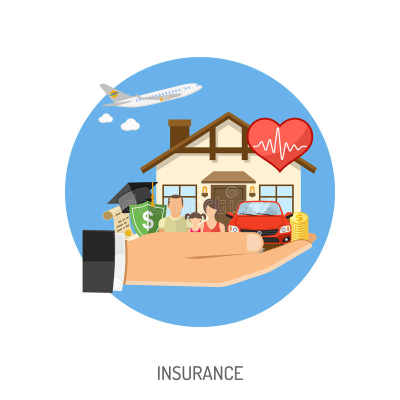 Insurance Services Concept royalty free illustration