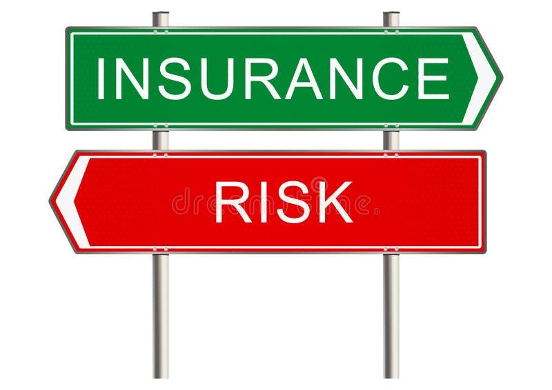 Insurance sign stock illustration
