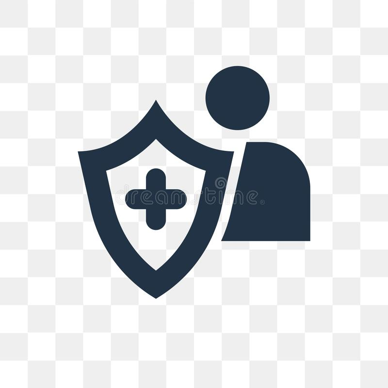 Insurance vector icon isolated on transparent background, Insurance transparency concept can be used web and mobile stock illustration
