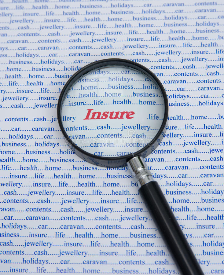 Insure: some of the reasons. An image of some of the many reasons to insure written in blue text but with the word insure in bold red letters emphasized with a stock images