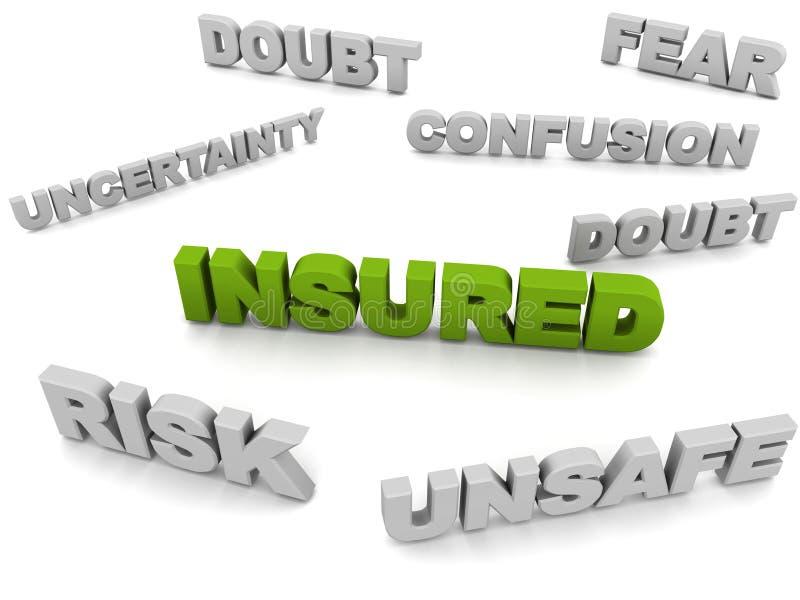 insured ilustração stock