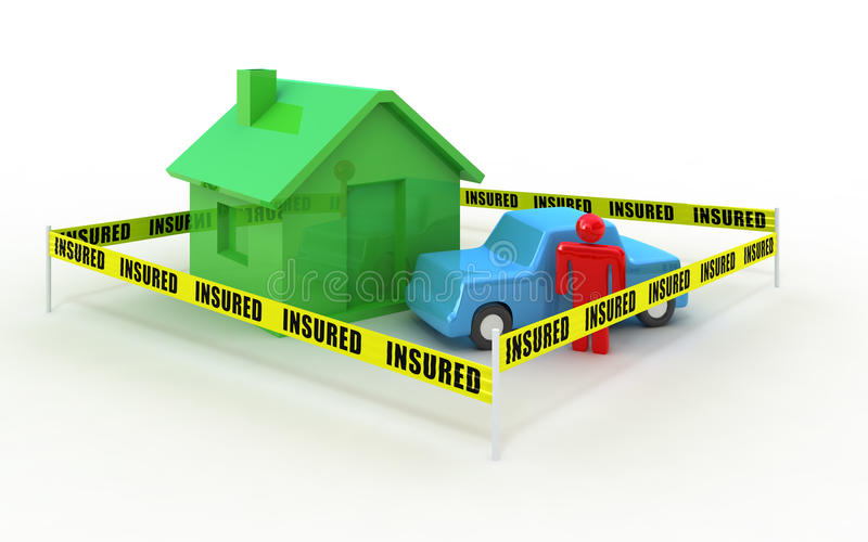 Download Insured objects stock illustration. Image of blue, text - 15385419