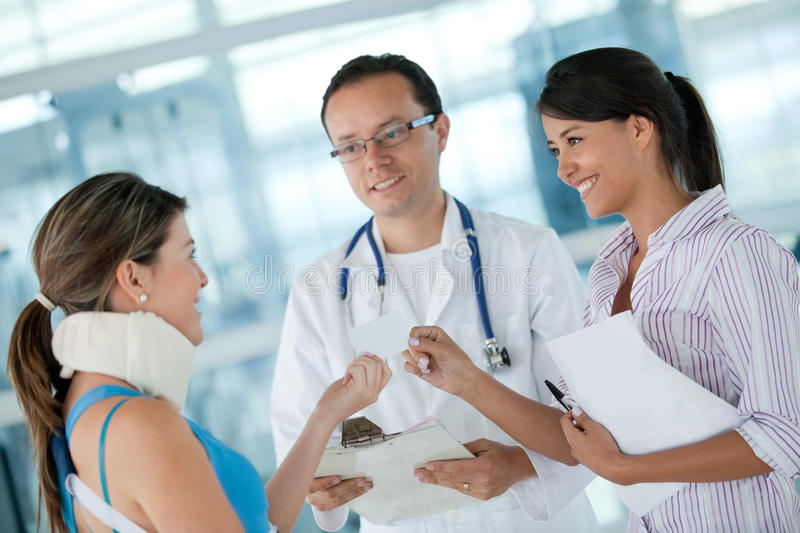 Download Insured woman stock image. Image of physician, doctor - 21222281