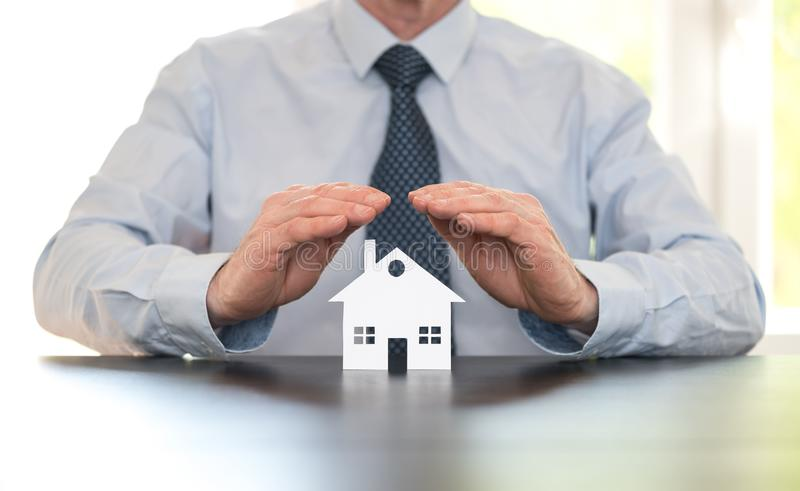 Symbol of home insurance stock photos