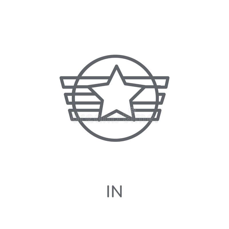Insygni liniowa ikona Nowożytny kontur insygni logo pojęcie na wh royalty ilustracja