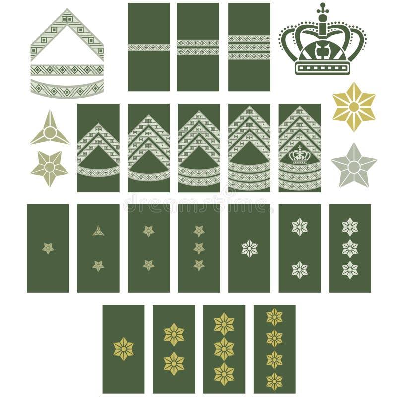 Insygnia Duński wojsko ilustracja wektor