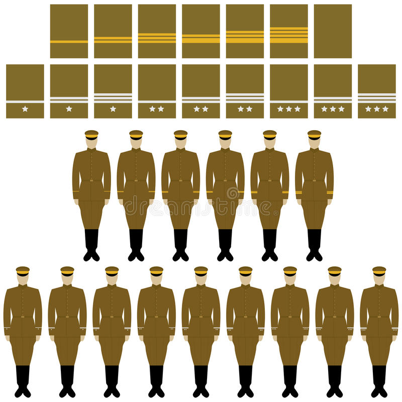 Insygnia i mundur Cesarskiego japończyka wojsko ilustracja wektor