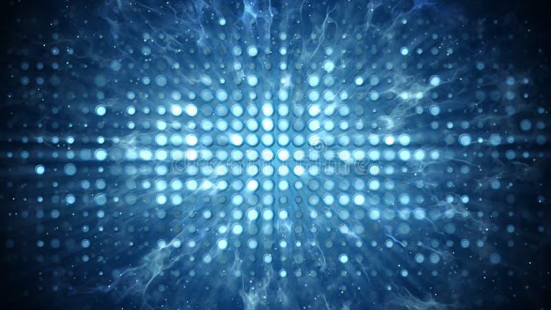 Inszenieren Sie Lichter und Rauchdiscopartei-Konzeptzusammenfassungshintergrund vektor abbildung