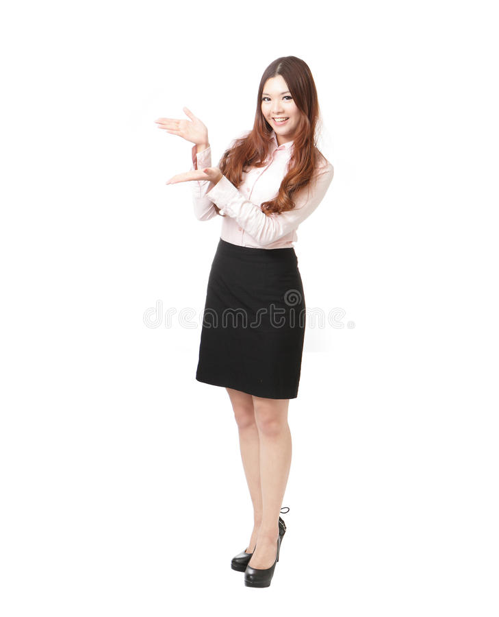 Intégral de la femme d'affaires présentant l'exposé photo stock