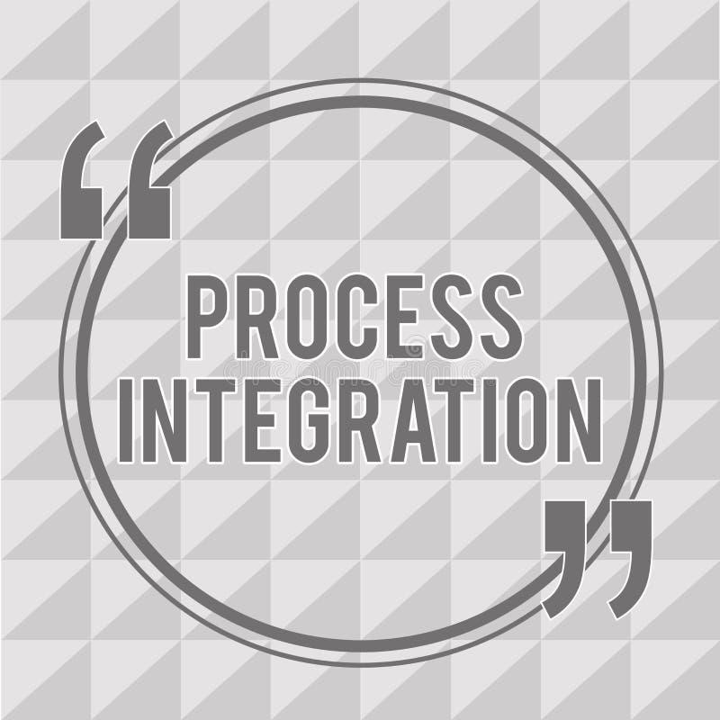 Intégration de processus des textes d'écriture de Word Concept d'affaires pour la connectivité des services et de l'information d illustration stock