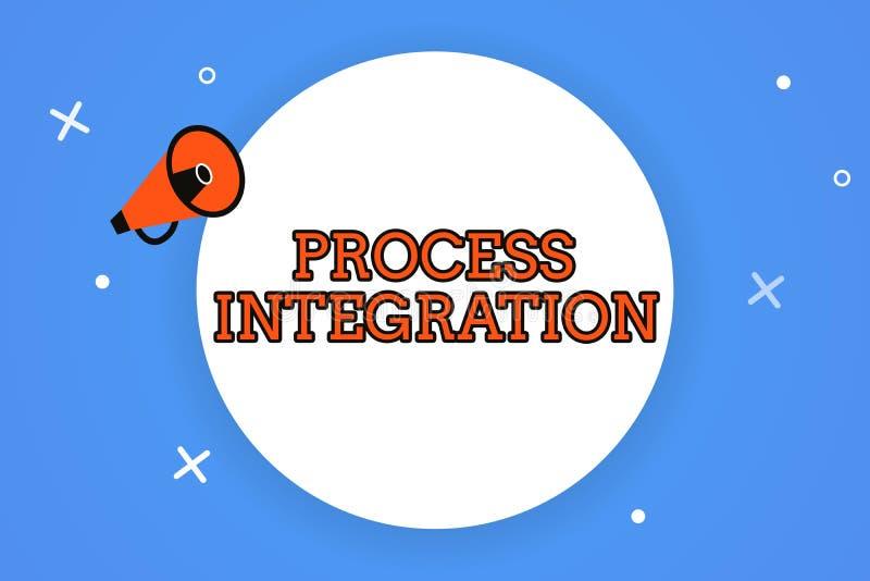 Intégration de processus des textes d'écriture de Word Concept d'affaires pour la connectivité des services et de l'information d illustration de vecteur